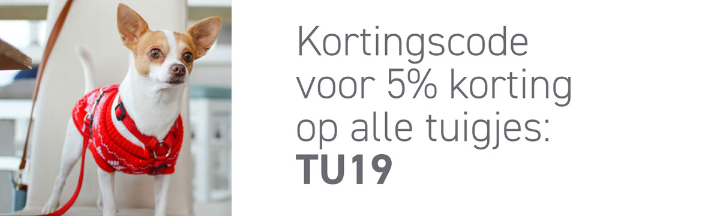 5% korting op tuigjes voor knagers