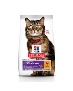 Hill's Science Plan - Sensitive Stomach & Skin Adult Kattenvoer met Kip - 7kg