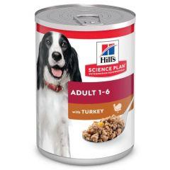 Hill's Science Plan Hond Adult Natvoer Kalkoen 12 x 370g blik