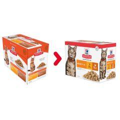 Nieuwe verpakking: Hill's Science Plan Kat Adult Multipack Gevogelte (12x85g)
