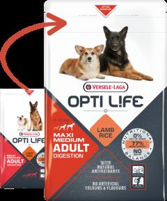 Opti Life Adult digestion medium-maxi  -12.5 kg