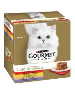 Purina Gourmet Gold - Hartig Torentje 8-pack 8x85g