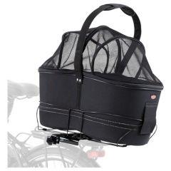 Trixie fietsmand Long voor Brede Bagagedragers Zwart 29x49x60 cm