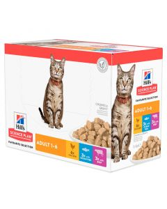 Nieuwe verpakking: Hill's Science Plan Kat Adult Multipack Classic (12x85g)