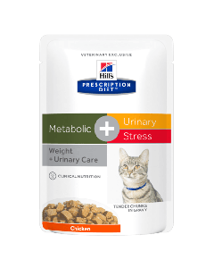 Hill's Metabolic+Urinary Kat Stress maaltijdzakje 85gr