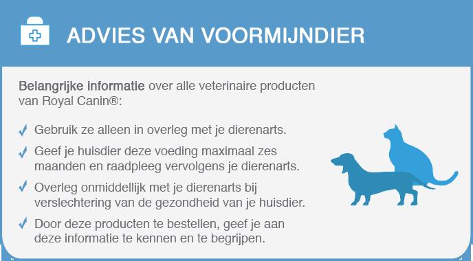 Gebruiksadvies Royal Canin Veterinary